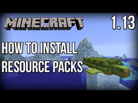 How to INSTALL Resource Packs for Minecraft 1.13! (Update Aquatic) [Faithful x32]