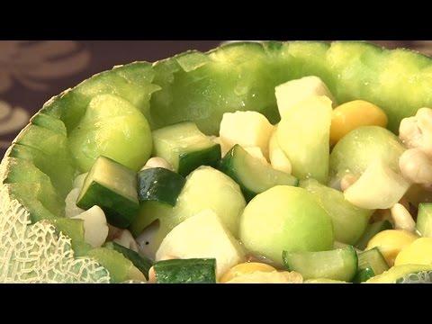 現代心素派-20141219 香積料理 - 哈密瓜盅 - 在地好美味 - 嘉義綠豆糕
