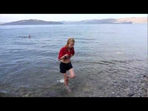 LAKE BAIKAL NEWS - TOURIST VIDEOS SIBERIA | Swimming in Lake Baikal