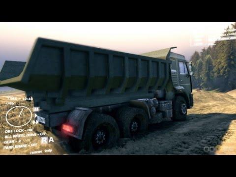 Spin Tires Dev Demo July 2013 - Kamaz Dump Truck Test Drive