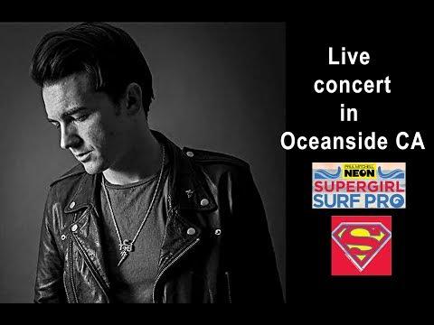 Drake Bell Full Concert Live in Oceanside California July 2017 Supergirl Surf Pro