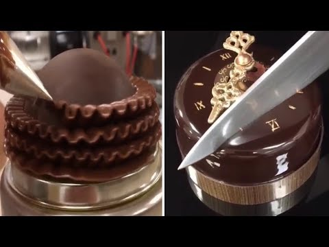 Amazing Chocolate Cake Decorating Tutorials - Oddly Satisfying Audio 2017  🍰🍰🍰😜😝