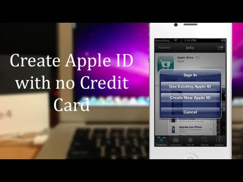 how to create itunes without credit card