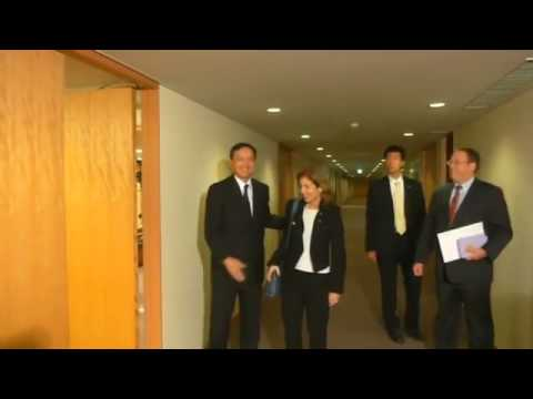 Caroline Kennedy Meets Japanese Diplomats as Newly Appointed US Ambassador