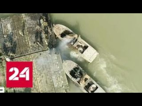 Авиация РФ громит в Сирии террористов ИГИЛ на суше и на море - Россия 24