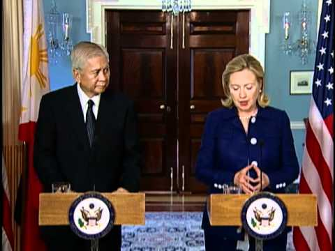 Secretary Clinton Holds Joint Press Avail With Philippines Secretary Rosario