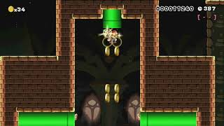 Bowser's Flying Fortress #RyuSMM by Kruhl S. - Super Mario Maker - No Commentary