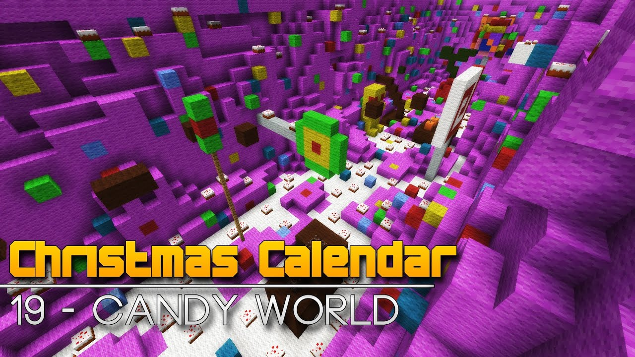 Christmas Calendar Minecraft : Christmas calendar candy world minecraft parkour