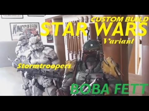 Star Wars Boba Fett Stormtroopers Diorama (Variant) Must See!!!