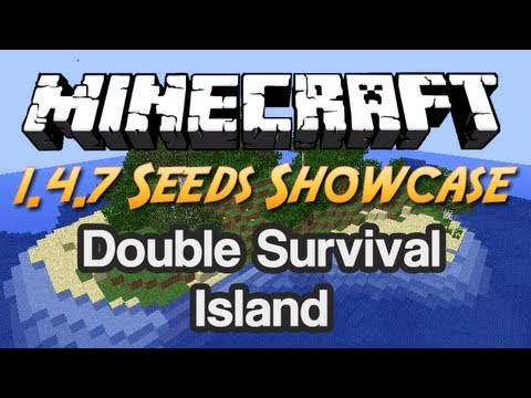 Minecraft Seeds Showcase - #13 - Double Forested Survival Island [1.4.7]