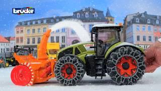 Claas Axion 950 mit Schneeketten und Schneefräse -- 03017 -- Bruder Spielwaren