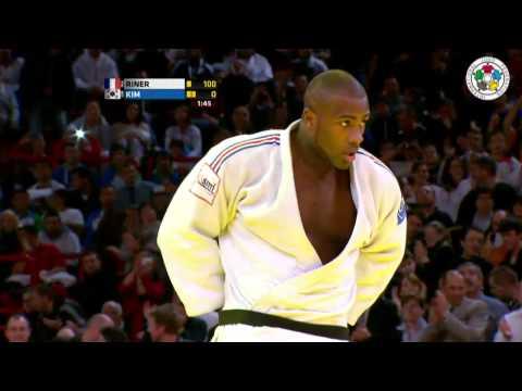 Judo Grand Slam Paris 2013: Final +100kg   RINER, Teddy (FRA) -  KIM, Sung-Min (KOR)