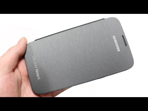 Official Samsung Galaxy Note 2 Flip Cover Review - Silver / Grey - Genuine