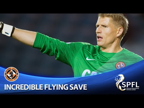 Brilliant flying save from Radoslaw Cierzniak
