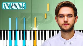"Download Lagu Zedd - ""The Middle"" Piano Tutorial - Chords - How To Play - Cover Gratis STAFABAND"
