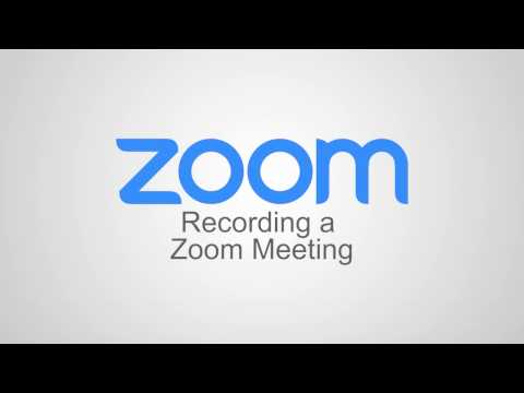 Recording a Zoom Meeting