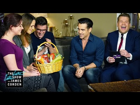 Colin Farrell Brings a Gift to #NataliesHouse