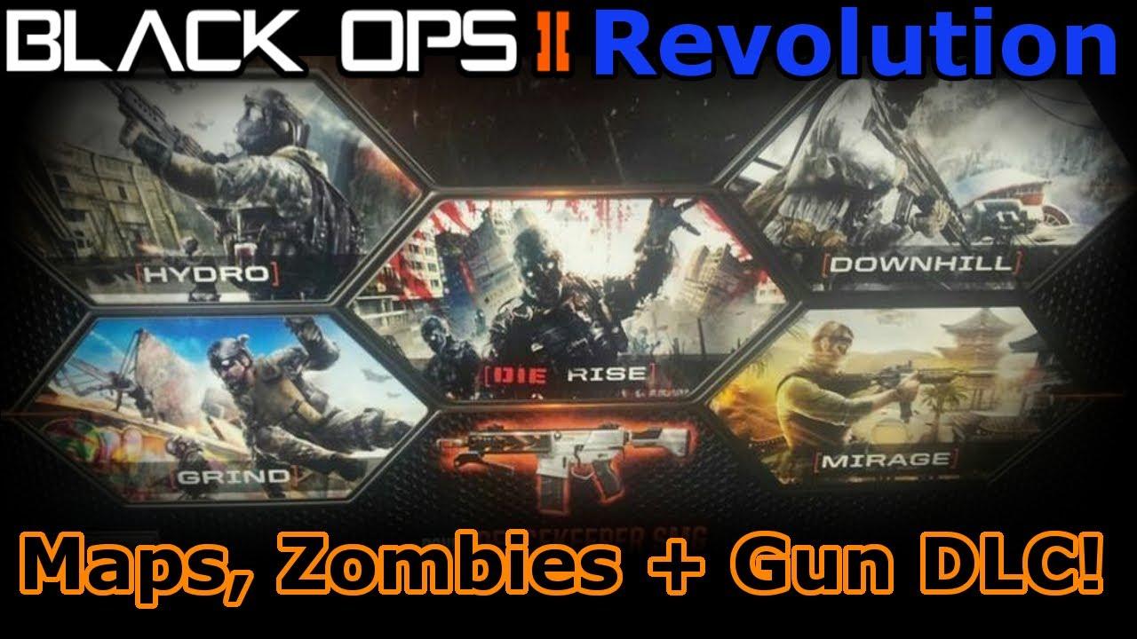 Black Ops 2 Revolution Maps Zombies Gun Dlc Youtube
