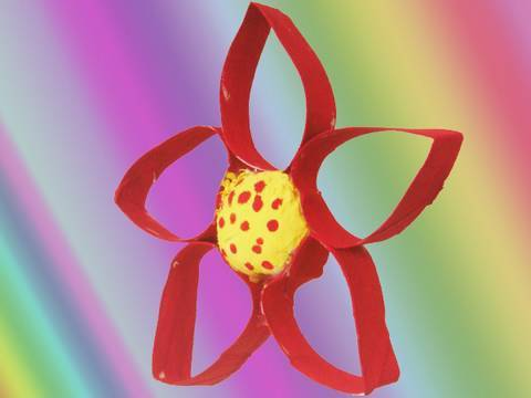 Recycled kids crafts: How make a TP tube flower