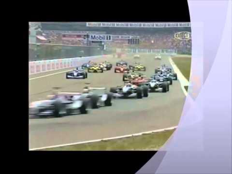 Schumacher & Burti crash Hockenheim