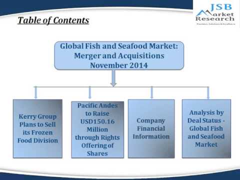 JSB Market Research : Global Fish and Seafood Market: Merger and Acquisitions November 2014