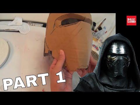 #109: Kylo Ren Helmet Part 1 - Cardboard   Star Wars 7   Costume   How To   Dali DIY