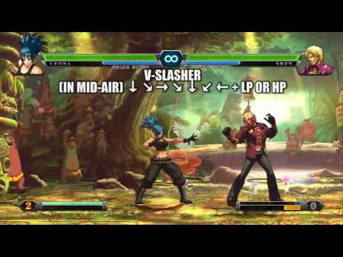 The King of Fighters XIII - Team Ikari Warriors - Leona Trailer (PS3, Xbox 360)