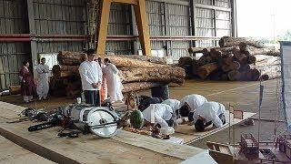 朝鮮通信使船の建造開始
