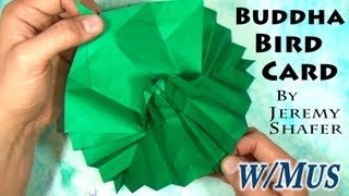 Origami Buddha Bird Pop-up Card (with Music)