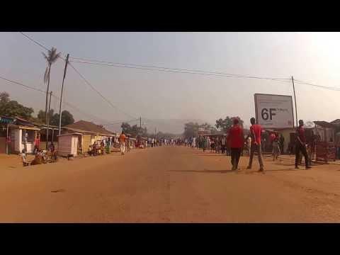 Driving through downtown Bangui, C.A.R.