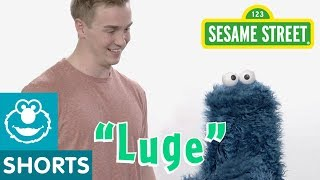 Sesame Street: Tucker West Teaches Cookie Monster About Luging | Winter Olympics