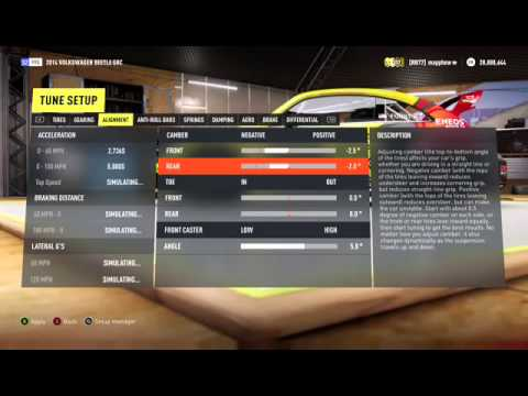 Forza Horizon 2 VW Beetle GRC Review and Tune