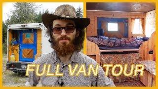 Student Converts Step Van Into DIY Tiny Home ~ Full Tour