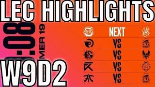LEC Highlights ALL GAMES Week 9 Day 2 (Final Week) Summer 2019 League of Legends EULCS