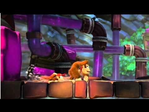Donkey Kong Country: Tropical Freeze Nintendo Direct Gameplay (Wii U Intro footage)