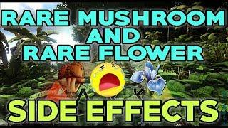 Ark Survival Evolved: Rare Mushroom and Rare Flower Side Effects! Wildcard....NOOOOO!!!