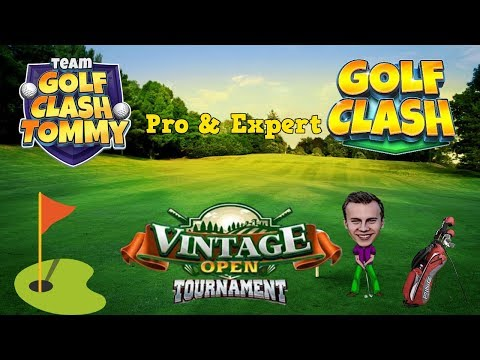 Golf Clash tips, Playthrough, Hole 1-9 - PRO & EXPERT - Vintage Open Tournament!
