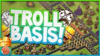 TROLL BASIS AANVALLEN!! - Clash of Clans