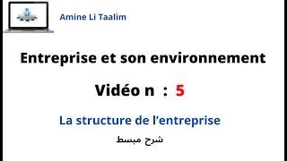 La structure de l'entreprise (Draija )
