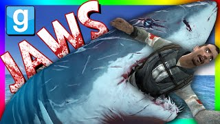 MECHANICAL JAWS CHALLENGE | Gmod Jaws Shark Mod (Shark Attack Mini-Game)