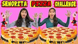SENORITA PIZZA EATING CHALLENGE | GIRLS SENORITA PIZZA EATING COMPETITION | PIZZA CHALLENGE (Ep-208)