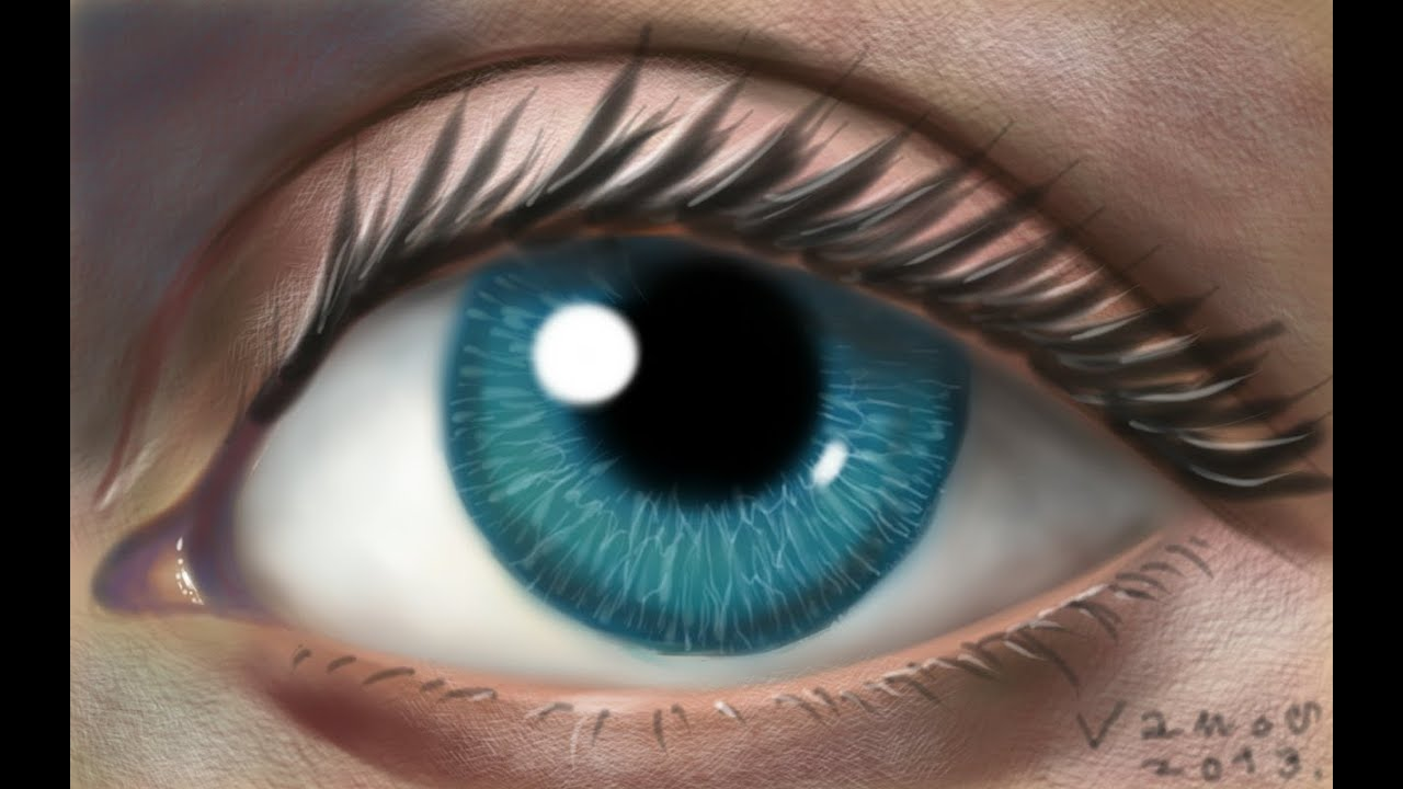 Digital Eye Drawing Drawing an Eye on a Mobile
