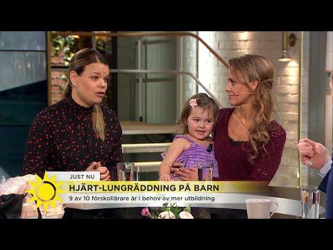 """""""Jag jobbade dag och natt för att lära ut hjärtlungräddning på barn"""" - Nyhetsmorgon (TV4)"""