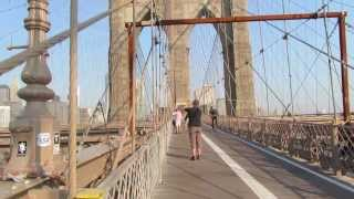 A Walk Across the Brooklyn Bridge on Wednesday August 21, 2013.