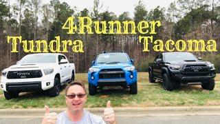 Toyota TRD PRO Battle - Tacoma vs 4Runner vs Tundra - you pick your winner!