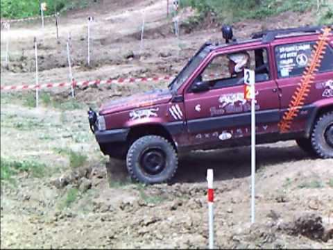 Fiat panda al campionato regionale trial 09 youtube for Panda 4x4 sisley off road