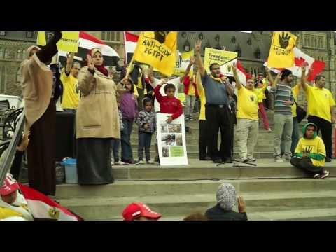 Canadians Pro-Democracy protest the bloodshed and illegitimate military coup in Egypt (6)