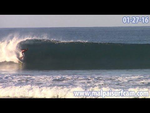 Costa Rica Surfing, www malpaisurfcam com 01 27 16 Santa Teresa Mal Pais