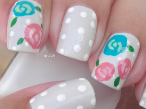 Nail Art - Winter Rose