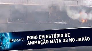 Incêndio em estúdio de animação mata 33 pessoas no Japão | SBT Brasil (18/07/19)